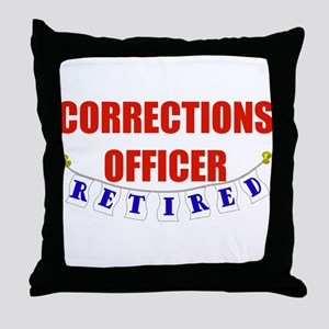 Retired Corrections Officer Throw Pillow