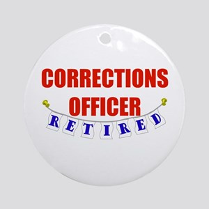 Retired Corrections Officer Ornament (Round)