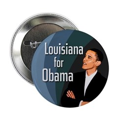 Louisiana for Barack Obama Button