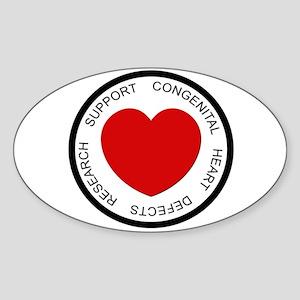 CHD SUPPORT Oval Sticker