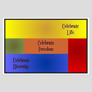 Celebrate Diversity Large Poster