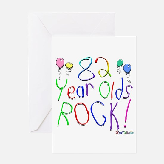 82 Year Olds Rock ! Greeting Card