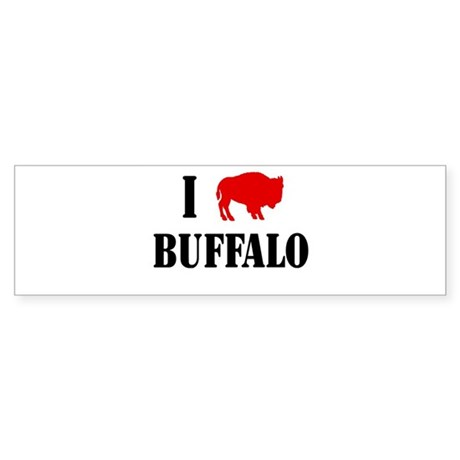 "I ""Buffalo"" Buffalo Bumper Sticker"