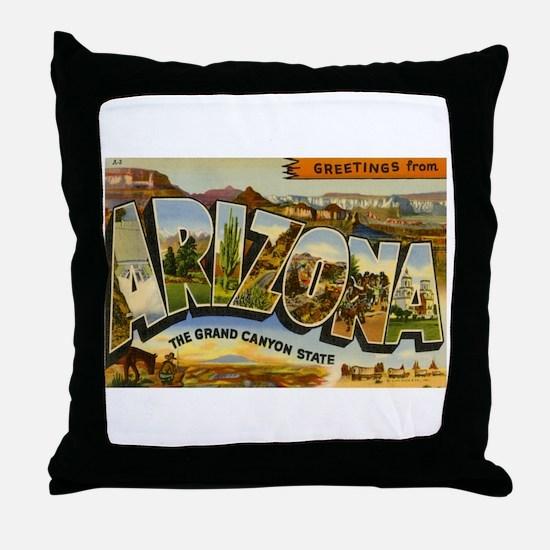 Greetings from Arizona Throw Pillow
