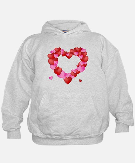 A wreath of Valentine's Hearts Sweatshirt