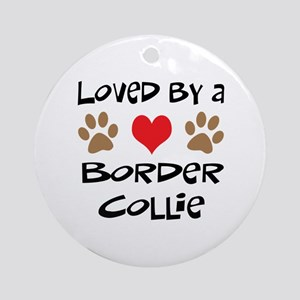 Loved By A Border Collie Ornament (Round)