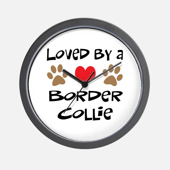 Loved By A Border Collie Wall Clock