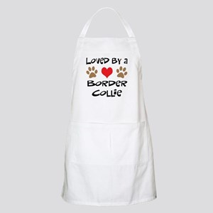 Loved By A Border Collie BBQ Apron