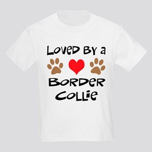 Loved By A Border Collie Kids Light T-Shirt