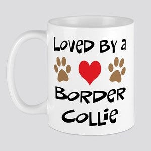 Loved By A Border Collie Mug