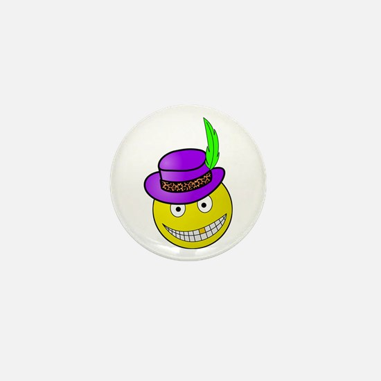 Pimp Daddy Smiley Mini Button