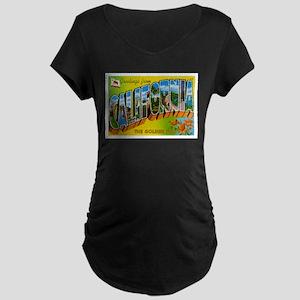 Greetings from California I Maternity Dark T-Shirt