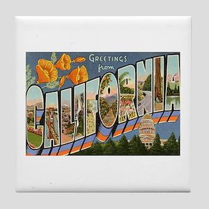 Greetings from California II Tile Coaster