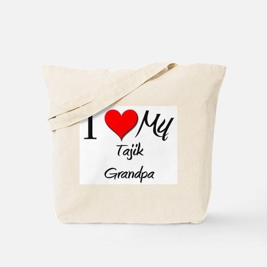 I Love My Tajik Grandpa Tote Bag