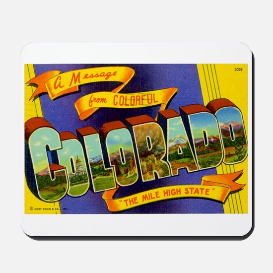 Greetings from Colorado Mousepad