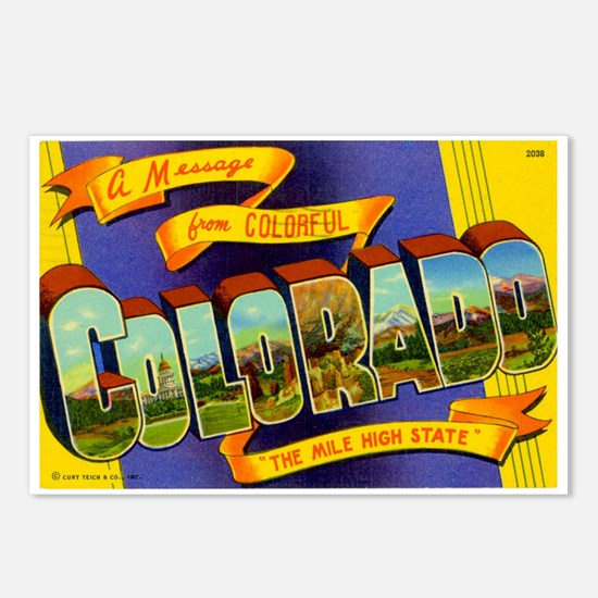 Greetings from Colorado Postcards (Package of 8)