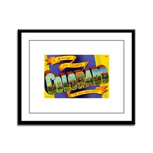 Greetings from Colorado Framed Panel Print