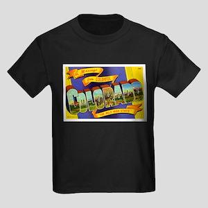 Greetings from Colorado Kids Dark T-Shirt