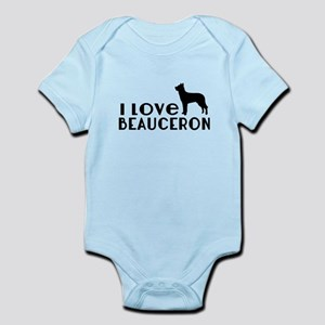 I Love Beauceron Baby Light Bodysuit