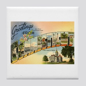 Greetings from Connecticut Tile Coaster