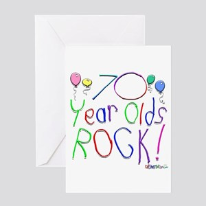 70 Year Olds Rock Greeting Card