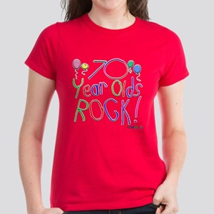 70 Year Olds Rock ! Women's Dark T-Shirt