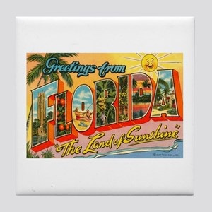Greetings from Florida I Tile Coaster