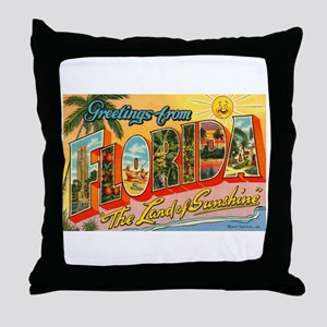 Greetings from Florida I Throw Pillow