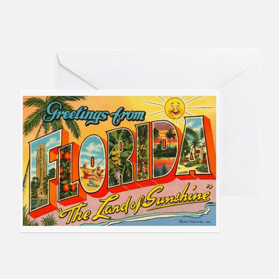 Greetings from Florida I Greeting Cards (Pk of 20)