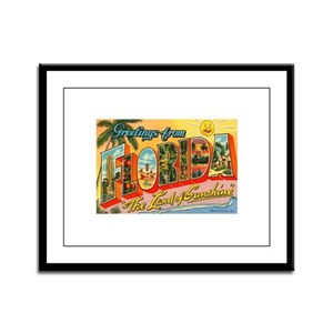 Greetings from Florida I Framed Panel Print