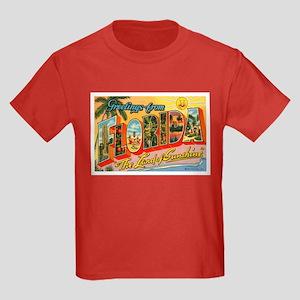 Greetings from Florida I Kids Dark T-Shirt