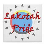 Lakotah Pride Sunburst Tile Coaster