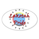 Lakotah Pride Sunburst Sticker (Oval)