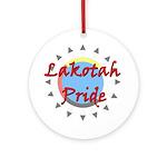 Lakotah Pride Sunburst Ornament (Round)