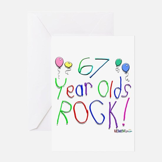 67 Year Olds Rock ! Greeting Card
