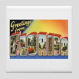 Greetings from Florida II Tile Coaster
