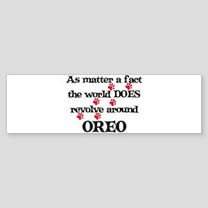 The World Revolves Around Ore Bumper Sticker