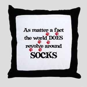 The World Revolves Around Soc Throw Pillow