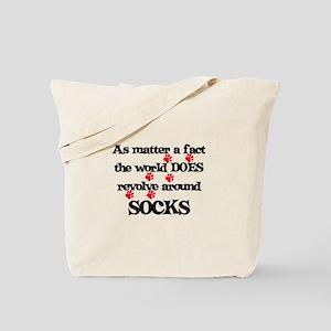 The World Revolves Around Soc Tote Bag