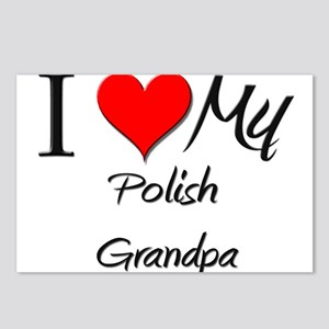I Love My Polish Grandpa Postcards (Package of 8)