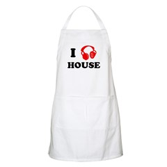 I Love House Music BBQ Apron