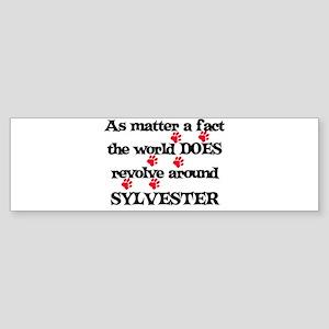 The World Revolves Around Syl Bumper Sticker