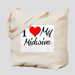 I Heart My Midwive Tote Bag