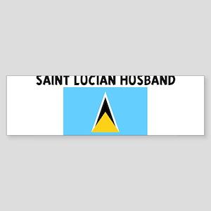 SAINT LUCIAN HUSBAND Bumper Sticker