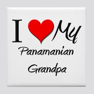 I Love My Panamanian Grandpa Tile Coaster