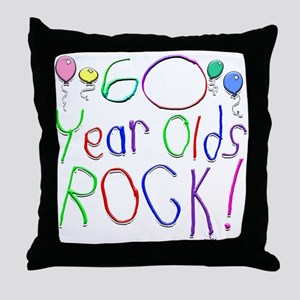 60 Year Olds Rock ! Throw Pillow