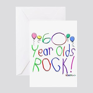 60 Year Olds Rock Greeting Card