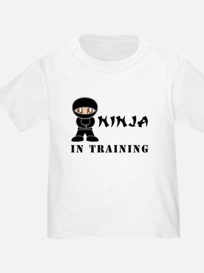 Brown Eyes Ninja In Training Toddler Tee