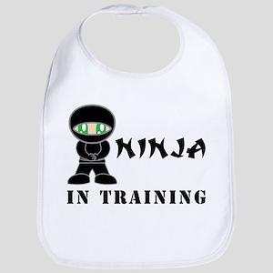 Green Eyes Ninja In Training Bib