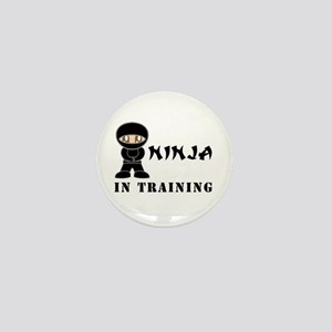 Brown Eyes Ninja In Training Mini Button